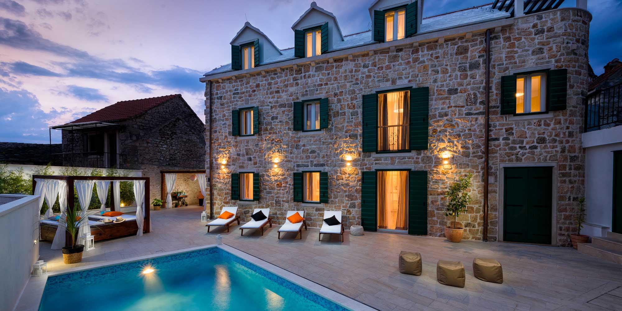 villa infinity island brac pool